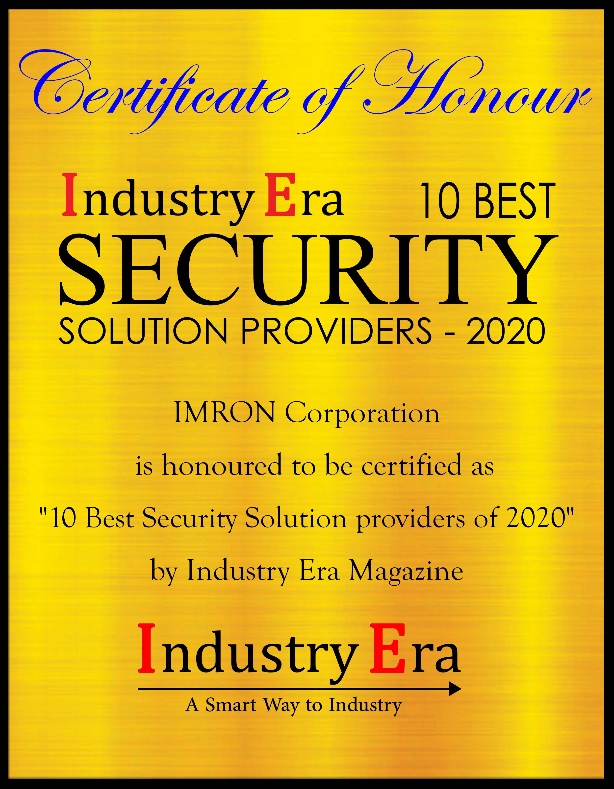 Imron Hussain President IMRON Corporation, 10 Best Security Solution Providers of 2020