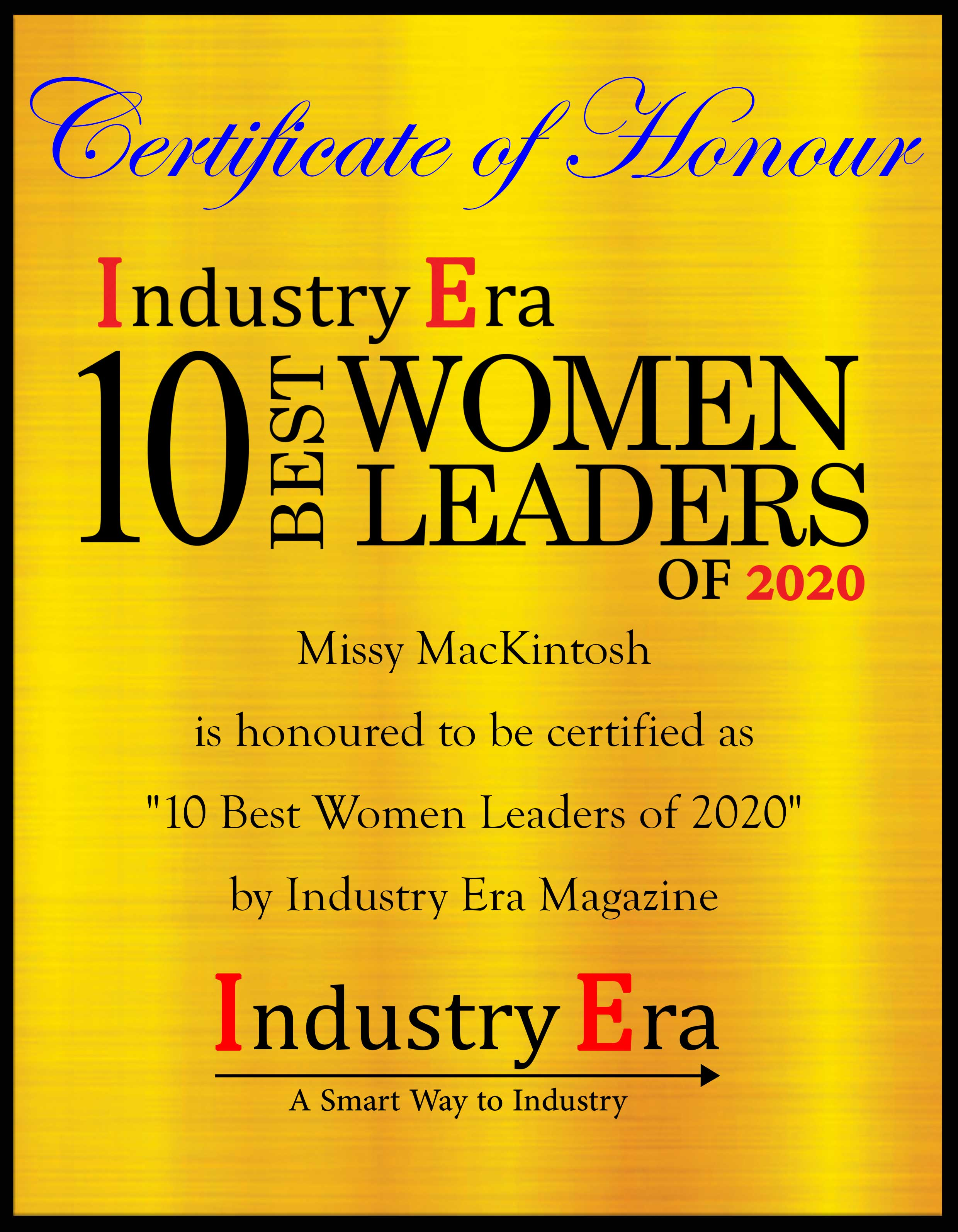 Missy MacKintosh, founder and CEO of MisMacK Clean Cosmetics Certificate
